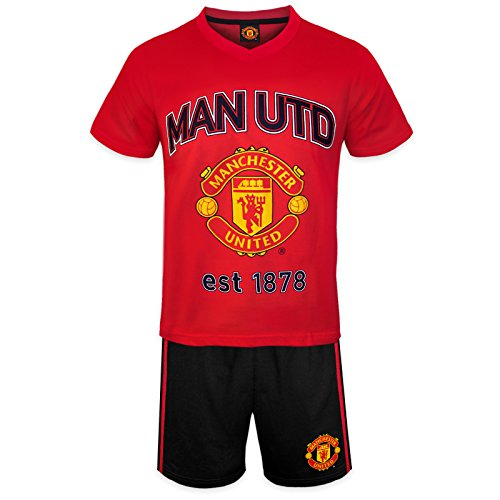 Ball Short Pajamas - Manchester United FC Official Soccer Gift Boys Short Pajamas Red 6-7 Years