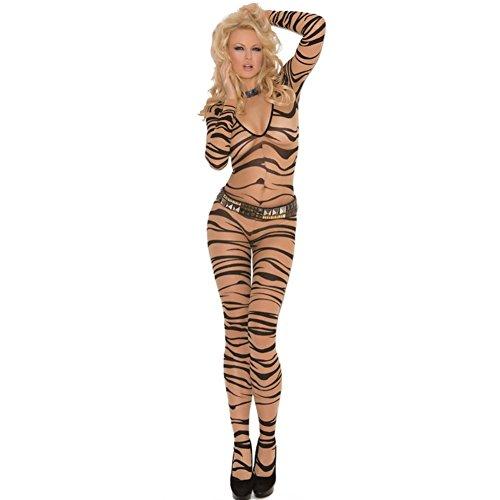 LTEllZ SU30039C1 Zebra Stripes Women Sexy Dress - Size M