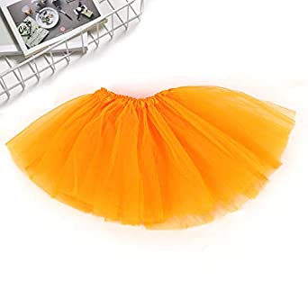 Yiwa - Falda - para niña Naranja Naranja Talla única: Amazon.es ...