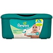 Pampers Natural Clean Baby Wipes - Tub - 72 ct