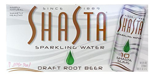 Sparkling Draft Beer (Shasta Flavored Sparkling Water, Draft Root Beer, 10.5 Fluid Ounce (Pack of 10))