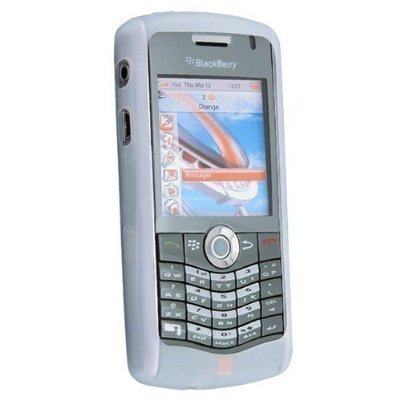 Silicone Skin Case for Blackberry 8120 / 8130, Clear White