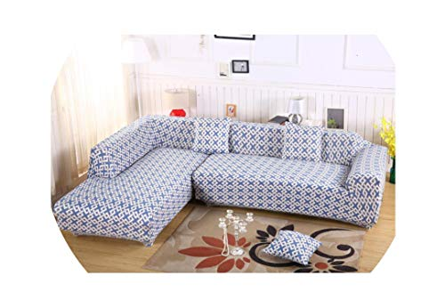 be-my-guest 2 Pieces Covers for L Shaped Sofa Universal Stretch Elastic Corner Sofa Covers Home Decor,9,1Seater and 1Seater
