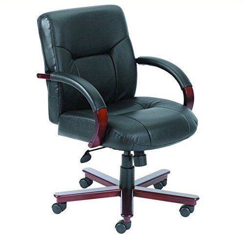 boss-office-products-b8906-executive-leather-mid-back-chair-with-mahgany-finish-in-black
