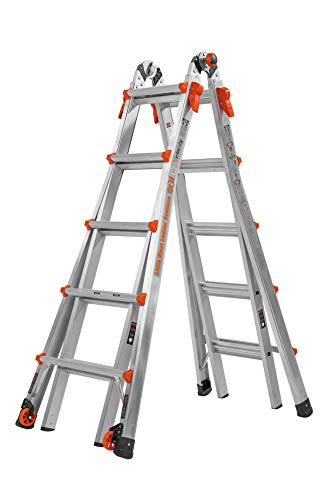 - Little Giant 22-Foot Velocity Multi-Use Ladder, 300-Pound Duty Rating, 15422-001
