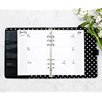 "2020 HORIZONTAL Weekly & Monthly Calendar for A5 Planners, fits Filofax, Kikki K, Carpe Diem Planners, 6 Ring binder, 5.8"" x 8.3"" Whimsy (Planner Not Included)"
