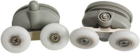 De 2 piezas para mampara de ducha de cilindro para puerta de cristal inferior guías de soportes con ruedas para mover con dientes ruedas @ Kuntaashop: Amazon.es: Hogar