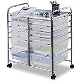 Giantex 12 Drawer Rolling Storage Cart Tools Scrapbook Paper Office School Organizer