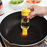 Moonnight Store Silicone Honey Oil Brush Bottle Cooking Baking Basting BBQ Baking Tool Oil Brush 2 in 1 Oil Bottle Silicone Cookie Cake
