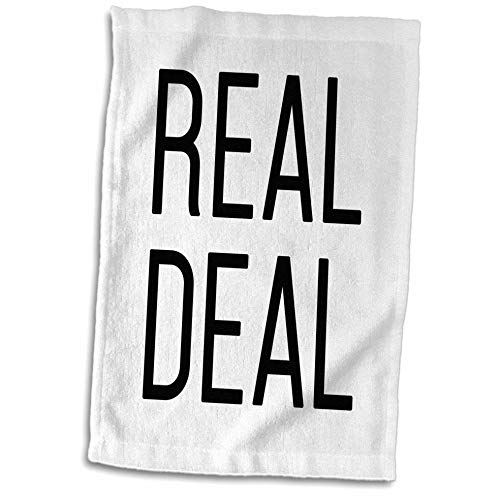 3dRose Tory Anne Collections Quotes - Real Deal - 15x22 Hand Towel (TWL_301005_1)