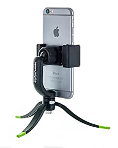 Square Jellyfish Tripod with Mount - 360 Degree Swivel Squeeze Grip Compatible with iPhone and Android