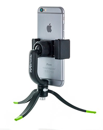 Square Jellyfish Tripod with Mount - 360 Degree Swivel Squeeze Grip Compatible with All iPhone and Android