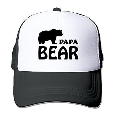 Papa Bear Unisex Adjustable Snapback Hats Hip Hop Caps | Baseball Caps Mesh Back