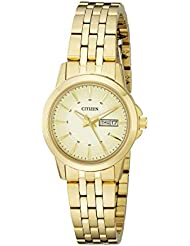 Citizen Womens Quartz Watch with Day/Date, EQ0603-59P