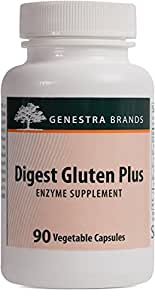Genestra Brands - Digest Gluten Plus - Enzyme Supplement to Aid Digestion of Gluten* - 90 Vegetable Capsules