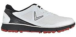 Callaway Men's Balboa Vent Golf Shoe, Whiteblack, 15 D Us