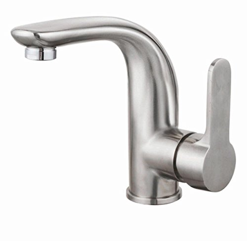 MDRW-Bathroom Accessories Basin Faucet Stainless Steel Basin Basin Mixer Hot And Cold-Water faucet Bathroom Cabinet ()