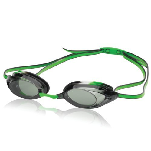Juniors Green - Speedo Jr. Vanquisher 2.0 Swim Goggles, Black/Green Tye-Dye, One Size