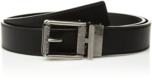 (Comfort Click Men's Adjustable Perfect Fit Ratchet Belt-As Seen On TV, Black/Tarnished Gunmetal - Pebble, ONE SIZE)
