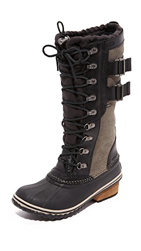SOREL Women's Conquest Carly II Snow Boot Black, Kettle