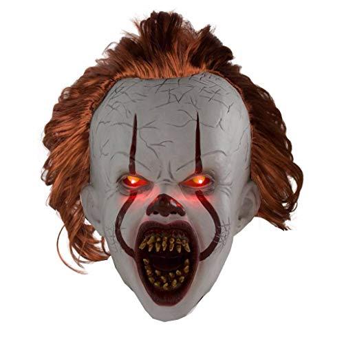 Pennywise Halloween Mask (Ani·Lnc Fullhead Mask Halloween Fancy Dress Costume Accessory Adult Led)