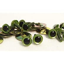 Sassy Bears 4.5mm Pearl Green Safety Eyes for Bear, Doll, Puppet, Plush Animal and Craft - 10 Pairs