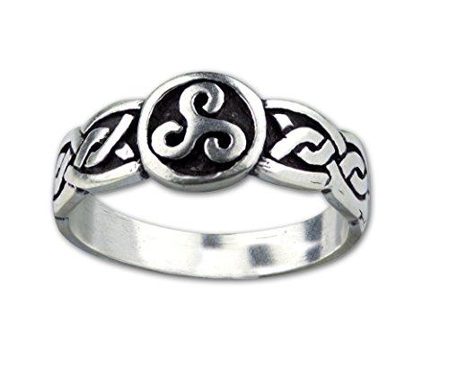 Toms-Silver Ring keltischer Dreierwirbel