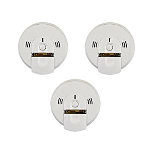 Kidde Battery-Operated(Not Hardwired) Combination Smoke/Carbon Monoxide Alarm with Voice Warning - 3 Pack