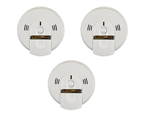 Kidde 21026043 Battery-Operated(Not Hardwired) Combination Smoke/Carbon Monoxide Alarm with Voice Warning KN-COSM-BA (3 Pack, White)