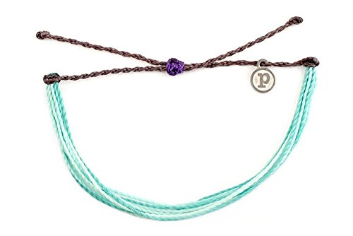 Pura Vida Midnight Waves Bracelet - 100% Waterproof Wax Coated Girls' Accessories- Handmade ()