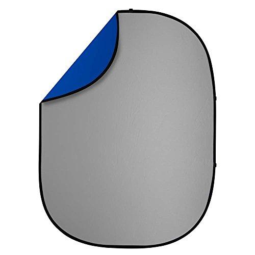 Interfit PB202 Studio Essentials Collapsible - 5' x 6.5' Pop-Up Reversible Background, Gray/Blue