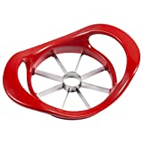 Levivo Apple Slicer, Apple Cutter made of Stainless Steel with Plastic Handles, Apple Corer, red, approx. 18.5 x 13 x 4.5 cm