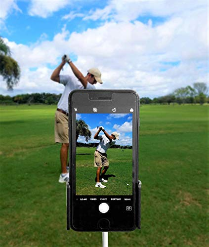 SWING PURE (2 PACK) Golf Swing Recording Training Aids – Golf Phone Holder Clip – Record Golf Lessons or Golf Swing/Short Game/Putting – Golf Accessories