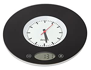 Dexam Electronic/Digital Kitchen Clock and Scales in Black