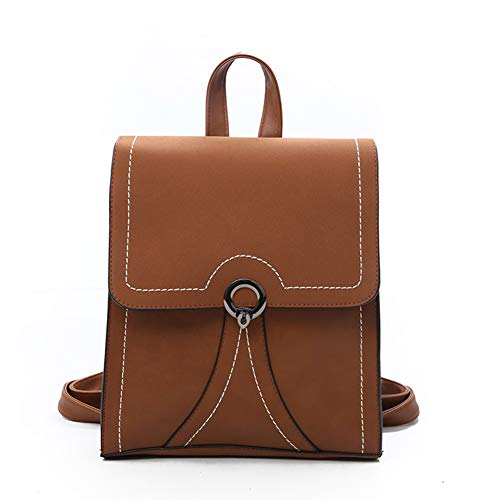 British Backpack Shoulder Retro CHARMA S 2018 use Travel School Female Casual Bag Bag Tide Brown New Double Multi wCqBZI5Z