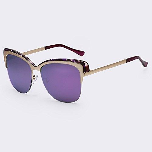 Senza sombras UV400 Gafas C06 Gafas de vintage de de Marco C04 sol TIANLIANG04 Semi sol del de qzxwOt66cZ