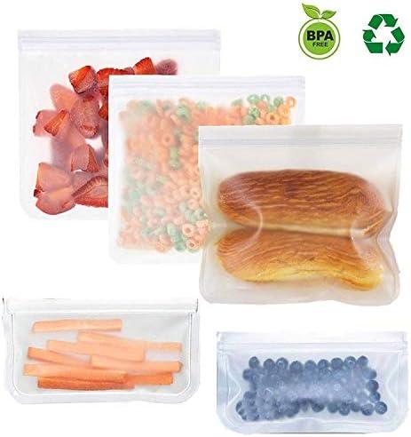 Hsheng Sandwich Bolsas reutilizables Scrub PEVA bolsas de ...