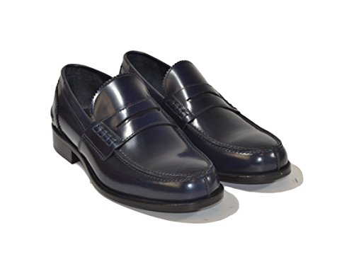 Saxone Of Scotland Men's Loafer Flats Blue Blue
