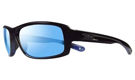 Revo Lentes polarizadas gafas gafas de sol convergen negro brillante w/cobalto azul agua