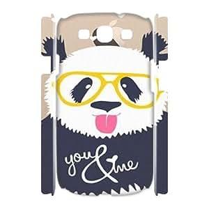 LSQDIY(R) Cute panda Samsung Galaxy S3 I9300 3D Plastic Case, Personalised Samsung Galaxy S3 I9300 3D Case Cute panda