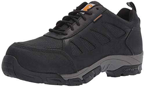 (Carhartt Men's Lightweight Wtrprf Low-Height Work Hiker Carbon Nano Safety Toe CMO3481 Industrial Boot Black Leathe/Nylon 9.5 W)