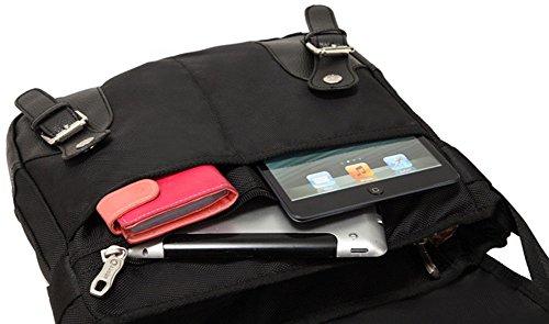 Augur Lona bolso mensajero bolsa para hombre bolso de escuela (34*13*24cm, black) black