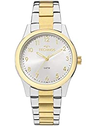 Relógio Feminino Technos Digital 2035Mkk/5K Prata Dourado