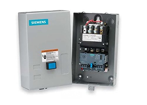 (Siemens 14DUC32BA Heavy Duty Motor Starter, Solid State Overload, Auto/Manual Reset, Open Type, NEMA 1 General Purpose Enclosure, 3 Phase, 3 Pole, 1 NEMA Size, 3-12A Amp Range, A1 Frame Size, 110-120/220-240 at 60Hz Coil Voltage)
