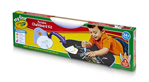 Crayola My First Portable Chalkboard Kit: Art Supplies For Kids (Mat Chalk)