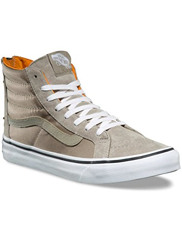 True Sage Zapatillas Sk8 Slim Vans hi Unisex Zip Silver White Adulto gHqOR