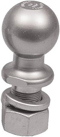 Husky 34918 2 X 1 X 2-1//8 Chrome Solid Steel Trailer Hitch Ball