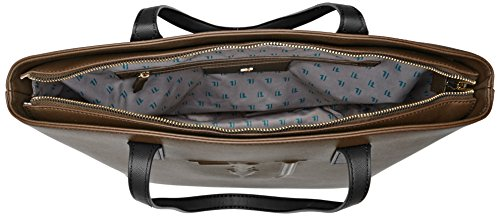 Trussardi Jeans 75b00008-1y090125, Borsa a Spalla Donna, 43x30x17 cm (W x H x L) Multicolore (Bronze/Black)