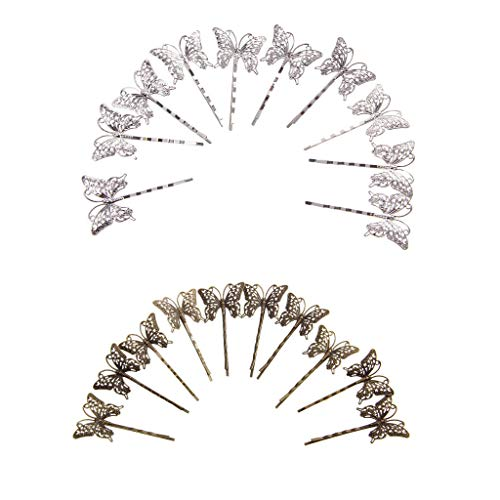 10 Pair Vintage Flower Hair Pin Retro Grips Slide Hair Accessories ()