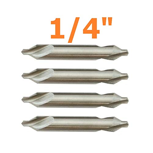 - Reliable Quad #3 Center Drill BIT 60DEGREE M2 HSS HIGH Speed Steel Countersink 0.25'' Quick Delivery